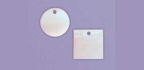 Accuform TDB703 Stainless Steel Blank Identification Tag, Circle, 20 Gauge, 1' Diameter (Pack of 25)