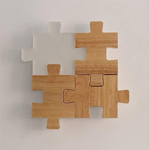 Ckssyao lámpara de Pared Estilo Moderno Creativo Jigsaw Incorporated Lámpara De Pared Oficina/Bambú Luz De Pared Control Remoto Dimagen Sala De Estar Estudio Decoración Lámparas