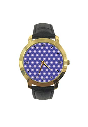 Pretty Unusual Dreamy Artsy - Reloj de Pulsera para Hombre, Correa de Piel de Cuarzo, diseño con Formas Dulces