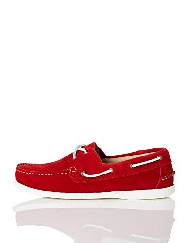 find. Boat Shoe Náuticos, Rojo (Red Suede), 41 EU