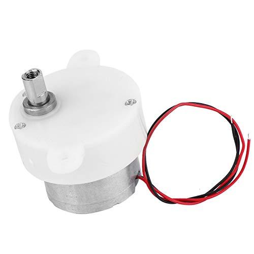 Motor de CC, motor de 6 V, motor de reducción de velocidad de 6 V, motor de engranajes de plástico de bajo consumo y alta torsión