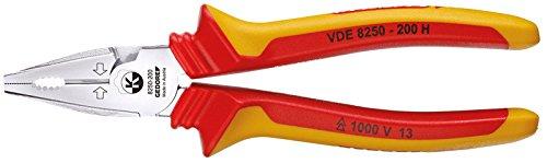 Gedore VDE 8250-200 H - Alicate universal de fuerza VDE con aislamiento de cubierta 200 mm
