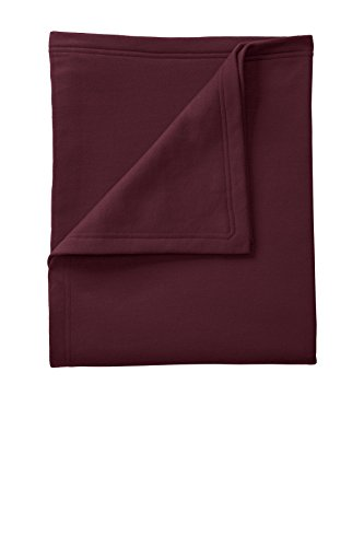 Port & Company Core Fleece Sweatshirt Blanket OSFA Maroon