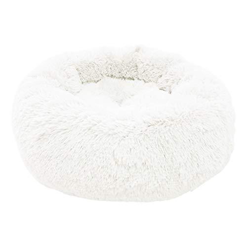 4L Textil Exklusives weiches und kuscheliges Hundebett Fuzzy Haustierbett Hundebett Kuschelkissen Katzensofa Hundehöhle Katzenbett für kleine, mittelgroße Haustiere Donut-Form
