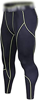 Men's Compression Pants, Men's Cool Dry Leggings Sports Tights Pants Compression Pants (Color : Green, Size : 3XL)