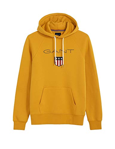 GANT Herren Kapuzensweatshirt Shield Sweat Hoodie Gold (35) XXXL