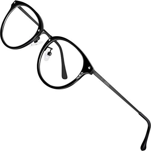 ATTCL Unisex blaulichtfilter brille computerbrille zum Blockieren von UV-Kopfschmerz [Augenbelastung Reduzieren] Gaming Brillen(Herren/Damen) 19702 Schwarz