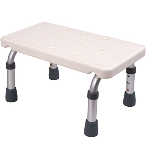 Medokare Adjustable Foot Stool - Stepping Stool for Adults and Children, Bedside High Bed Step for Seniors, Foot Stool Under Desk, Heavy Duty Portable Medical Footstool for Bath Or Kitchen Foot Step
