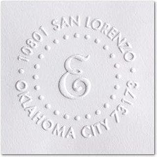 Custom Embosser Seal Hand Held Style- 44 Shiny EZ-Seal Round Decorative Personalized Custom Address Embosser