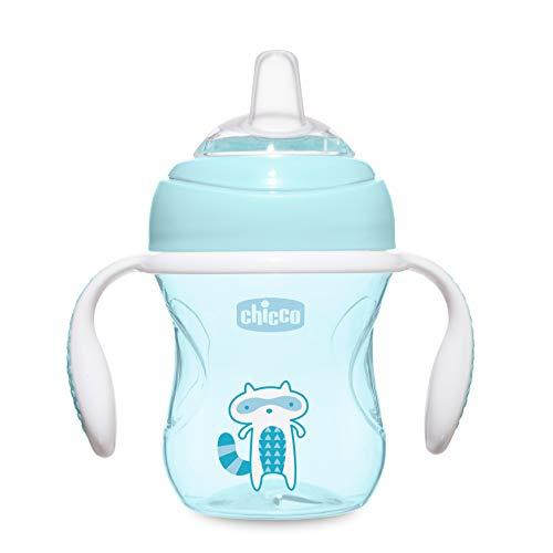 Chicco Vaso Antiderrame para Bebés 4+ Meses, Vaso de Aprendizaje Antigoteo con...