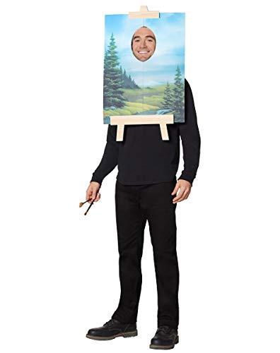 Spirit Halloween Bob Ross Painting Costume   Officially Licensed