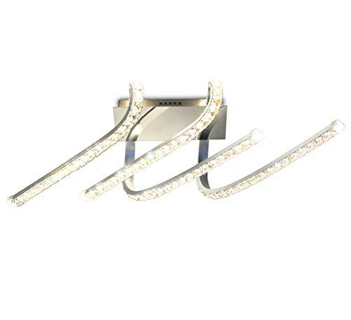 LED design plafoniera lampada parete crystal sospensione bracci curvo lampadario soffitto luce illuminazione 60cm 30W Lewima Visto