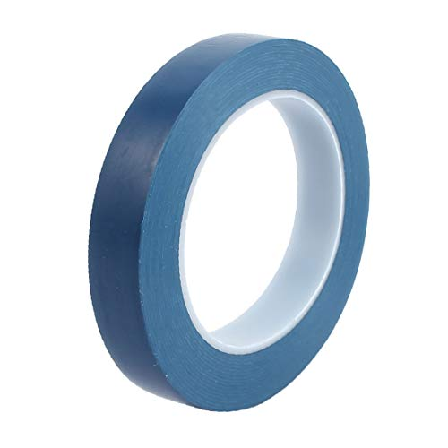 X-DREE 20mm x 33M Marking Tool PVC Electrical Insulation Floor Warning Tap Blue(Rubinetto d'avvertimento per pavimento elettrico in PVC per l'isolamento elettrico in PVC dello strumento di marcatura 2