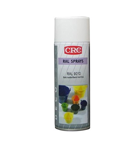 CRC 31313-AA Spray Pintura, Blanco Brillo, 400 ml