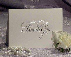 Packung mit 5 Silber, Hochzeit, Dankes-Karten mit passenden Umschlägen