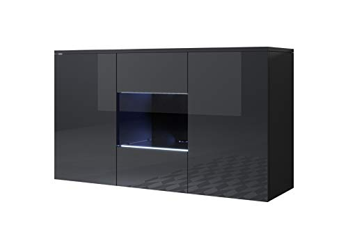 muebles bonitos Aparador Modelo Luke A2 (120x70cm) Colgante Color Negro