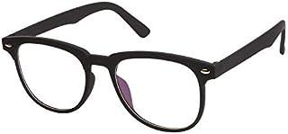 Arzonai Townsman Shape Black-Transparent UV Protection Sunglasses | Frame For Men & Women [MA-306-S1 ]