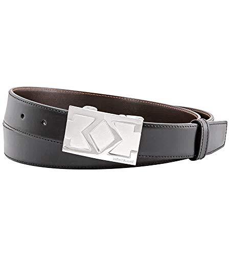 Montblanc Cinturón 114425 MM30 reversible piel negro/marrón