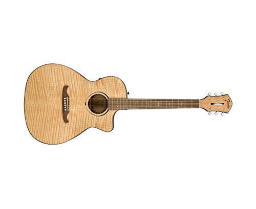 Fender FA-345CE - Guitarra acústica con cuerpo de auditorio, color natural