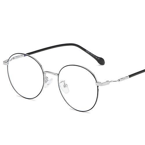 WEIDD Gafas De Computadora, Reducen La Fatiga Ocular, Luz Azul, Gafas De Juego Gafas De Luz Anti-Azul Gafas De Metal De Moda MiopíA Marco Retro Redondo Hombres Y Mujeres Gafas-C7