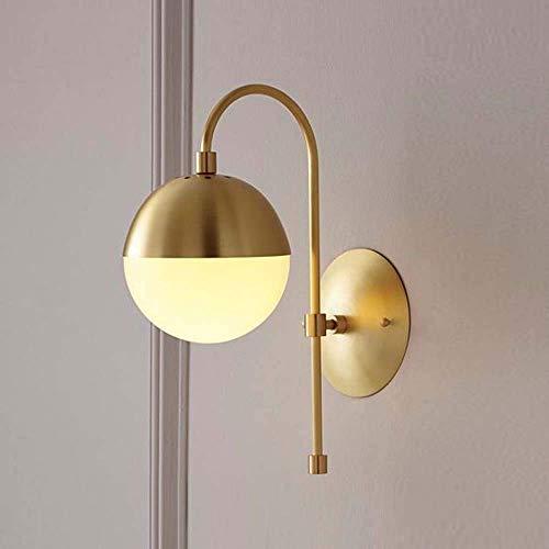HUAQINEI Post-modern Minimalist Living Room Wall Lamp Bedroom Bedside Study Creative Designer Designer Nordic Minimalist Wall Lamp D20 * H17CM (Color : 1)