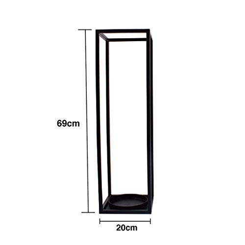 Soportes para paraguas, soporte para paraguas Soporte de paraguas de metal Soporte de paraguas independiente de Entryway con 2 ganchos para paraguas compactos y base extraíble/Negro