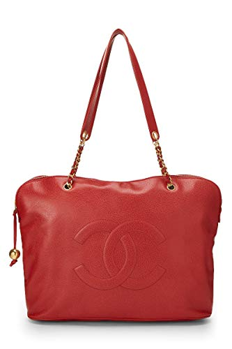 CHANEL Red Caviar Zip Tote Jumbo (Renewed)