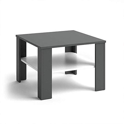 Vicco Coffee Table Homer Living Room Table Anthracite White 60x60 Couch Table Side Table