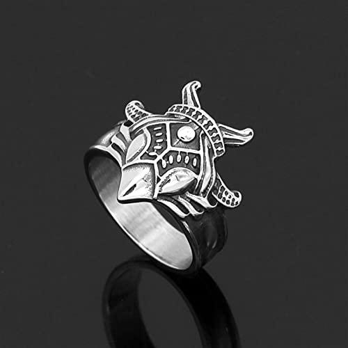 DKANG Runas Vikingas, Anillo Hombre Vikingo, Guardian Of The World Tree Of Life Ring, Vikings Odin Anillo De Máscara, Anillo De Amuleto De Acero Inoxidable Viking, Anillo Irlandés, Acero Titanio Celti