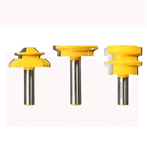 LKAIBIN Drill Shank Router Bit Woodworking Tool 3pcs 1/2 Inch Drill Accessories Drill Bit Set