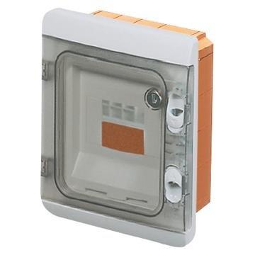 Gewiss GW48681 Gris, Naranja Caja electrica - Cuadro eléctrico (Gris, Naranja, 138 mm, 169 mm, 70 mm)