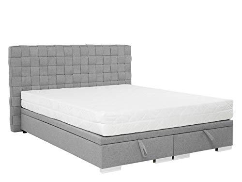 Mirjan24 Polsterbett Timi 4 Rahmen Z, Zwei Bettkasten mit Gasdruckfeder, Ehebett, Polsterbett, Bettgestell, Doppelbett mit Kopfteil, Stilvoll Bett für Schlafzimmer, 3 Größen (Boss 15, 160 x 200 cm)