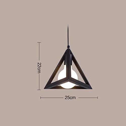 on. Gzz Deng Home Buitenverlichting, moderne vintage hanglamp, industriële verlichting, ijzer, 25 x 22 cm, keuken, woonkamer, slaapkamer, kroonluchter
