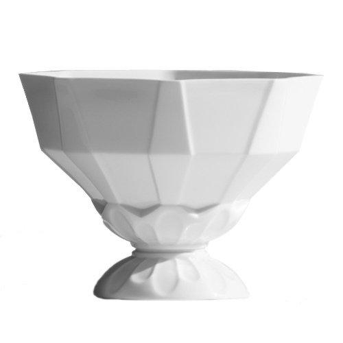 INDUSTREAL FACCETTE centrotavola o portafrutta in Porcellana Bianca Smaltata