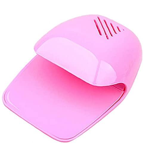 Berrywho Mini Secador de uñas Ventilador Portable Nail Art Drying Gel Polish Blow Cooler Machine Pink