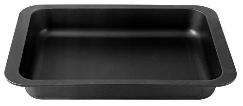 Zado 7501 Plat à Lasagne Special Countries 40x29x6 cm Noir, Acier Inoxydable, 40 x 29 x 6 cm