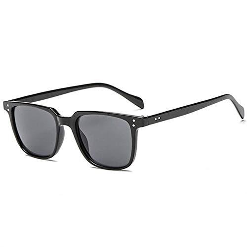 Sonnenbrille Sunglasses Hochwertige Markendesigner Square Sonnenbrille Herren Retro Vintage Fahrsonnenbrille Für Herren Männliche Sonnenbrillenschirme Uv400 Schwarz