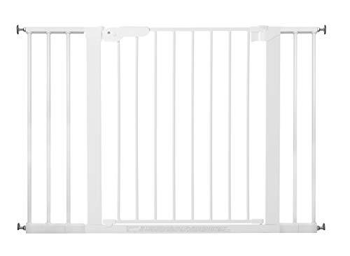 BabyDan 60114-2495-02-85 Premier, protezioni delle porte / cancello per serrare, 105,5 - 112,8 cm - prodotto in Danimarca e testato dal TÜV GS, colore: bianco