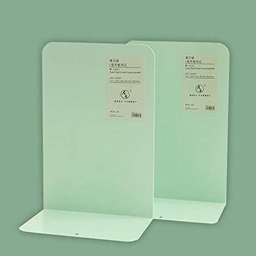 YYUKCDOG Material De Oficina De Metal Engrosado Escritorio De Oficina Simple Archivo De Almacenamiento De Datos Sujetalibros Clip De Libro Estudiante Libro En Forma De L por Sujetalibros