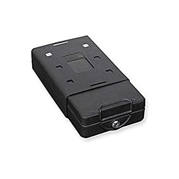 Bulldog Cases Car Safe with Key Lock Mounting Bracket and Cable in Black  8.2 x 5.9 x 2.2 inches