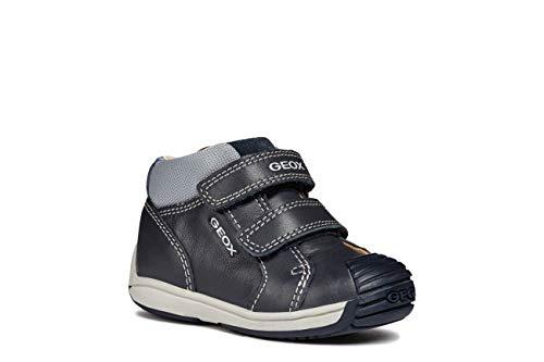 Geox Boys' Toledo 27 Shoe Dual Riptape Straps,Blu Grey, EU/7M First Walker, 23 M EU Toddler (7 US)