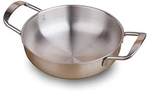 Roestvrij staal 20 cm Paella Cooking Brood Hotpot soep kreeft rivier keuken pot zee-keuken container voor inductie
