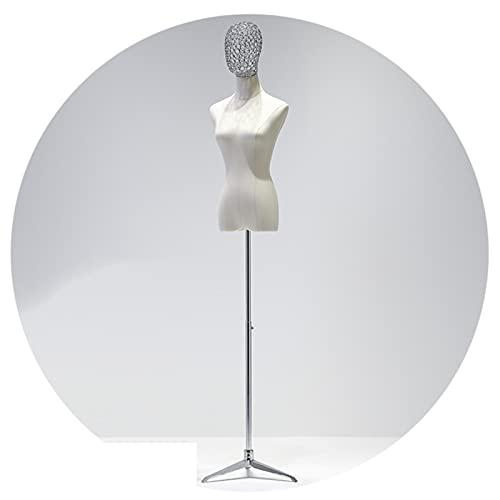 HAIPENG Maniquí Costura Busto Hembra, Tonto Apoyos Modelo con Manos Realistas para Exhibición Ropa, Altura Ajustable Forma Vestido Soporte Trípode Metal, 3 Estilos (Color : Silver, Size : A)