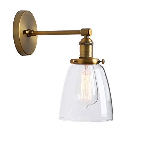 Phansthy innen Modernes klarglas Deckenglocken Wandbeleuchtung Wandleuchten Vintage Industrie Loft-Wandlampen Antik Deko Design Wandbeleuchtung Küchenwandleuchte (antike Farbe)