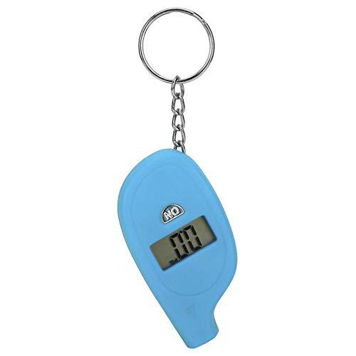 Emoshayoga Mini medidor de neumáticos LCD presión del inflador de neumáticos Herramientas de reparación de neumáticos portátiles(Blue)