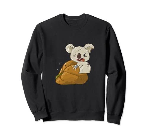 Humor Oscuro Disfraz de Calabaza Koala para Halloween Sudadera