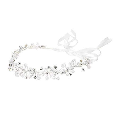 Nuziale fiore fascia accessori con perline e cristalli per capelli accessori decorazione capelli matrimonio sposa sposa di strass decorazione headwear