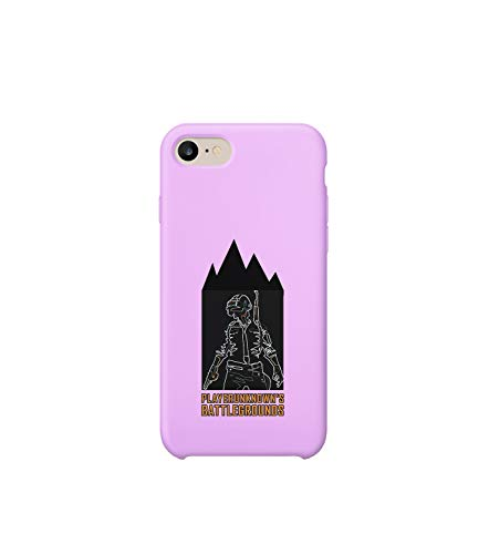 GlamourLab Player Unknown Battlegrounds Character Night Shift_R3423 Carcasa De Telefono Estuche Protector Case Cover Hard Plastic Compatible with For iPhone 8 Plus Linda Divertido Regalo