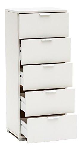 Bois & Design commode, meuble base à 5 tiroirs, différentes couleurs