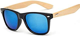 Wooden Bamboo Sunglasses Unisex Mirrored UV400 Sun Glasses Real Wood Shades Gold Blue Outdoor Goggles Sunglases